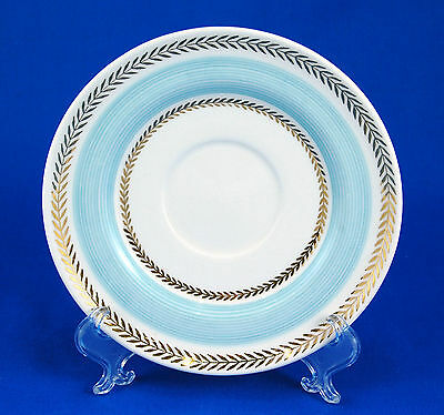 American Limoges Candle Light LYCEUM BLUE LC Saucer Only 6 in. USA Gold Laurel