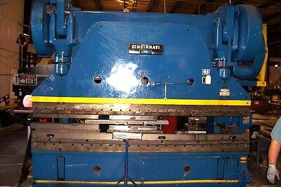 400 Ton x 12' Cincinnati Power Press Brake CNC Back Guage Metal Bending 13-8