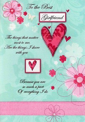 Girlfriend Birthday Cards Poetry In Motion Glitter Greeting Card Special Verse