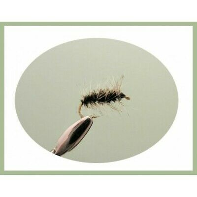 Griffiths Gnat Dry Trout Flies, 12 pack Mixed Size 14/16/18, For Fly Fishing