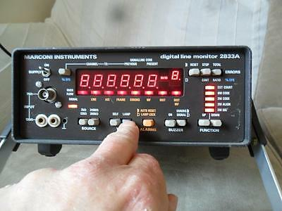 Marconi Instruments Digital Line Monitor 2833A With Manual