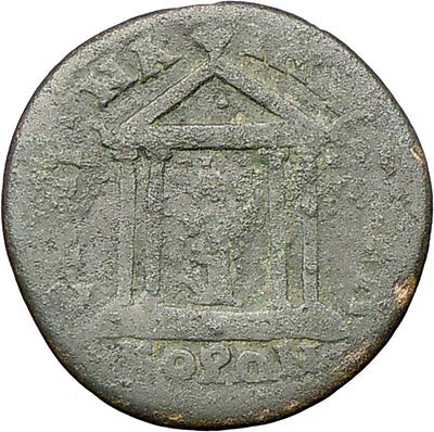 Greek City 100AD under Roman Ancient Greek Coin Roman Senate Temple Tyche i28185