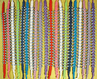 BR5045 - 20 Piece String/Bead Friendship Bracelets