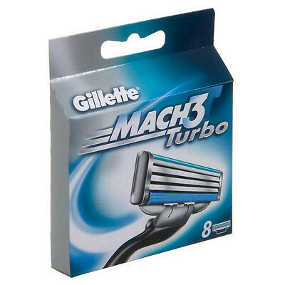 Gillette Mach3 Turbo Cartridges, 8x2 Count ( Total of 16 Cartridges )