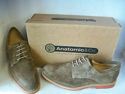 Anatomic & Co Delta Ochre/Tan Suede Leather Lace Up Derby Shoes
