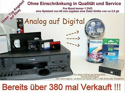Kassetten digitalisieren - MiniDV / Video8 / Digital8 / Hi8  als fertige DVD