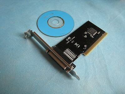 IEEE 1284 DB 25 Pin Printer Parallel Port PCI I/O Card