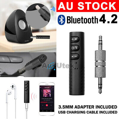 Wireless Bluetooth 3.5mm AUX Audio Music Receiver Stereo Home Car Kit Adapter