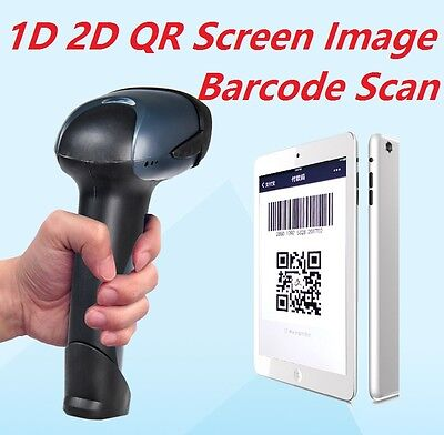 Barcode Scanner 2D 1D QR Bar Code Image Screen Scan Reader Laser Win/Android/IOS