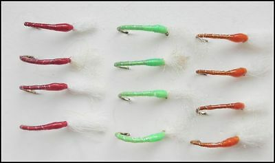 Mixed sizes 10-16 Brown Fishing Flies 12 pack of Epoxy Buzzer