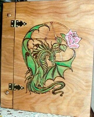 Dragon and Rose Book of shadows - Wicca, Witch, Pagan