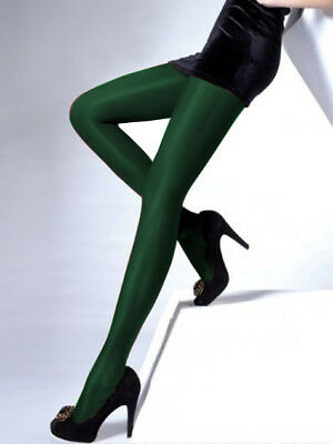 """Thick Opaque Tights """"Diverse"""" 100 DEN satin gloss - S M L"""