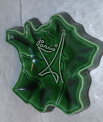 Paris Ashtray Ash tray with Eiffel tower collect circa 1940's Original Flamidor