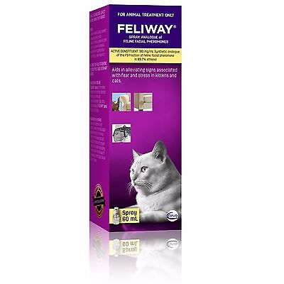 Feliway for Cats 60mL Travel Spray: On the Go Behavioural Management Spray