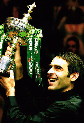 ROCKET RONNIE O'SULLIVAN 3 Times World Champion SIGNED Snooker Photo AFTAL COA