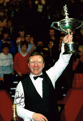 Dennis Taylor HAND SIGNED Autograph 12x8 Photo AFTAL COA 1985 Snooker Champion