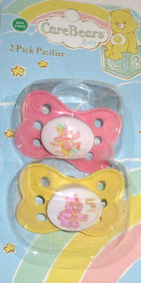 NEW (Set Of 2) Care Bears Baby BPA Free Pacifiers Pink/Yellow