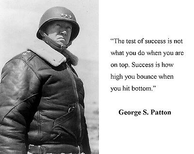 General George S. Patton Allied World War 2 WWII Quote 11 x 14 Photo Picture #b4