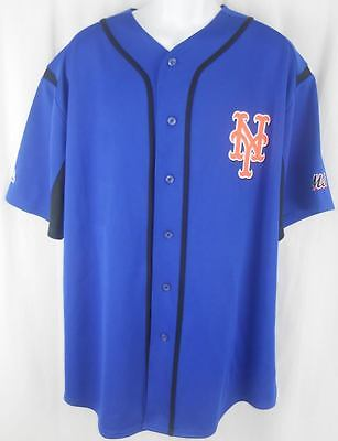 timeless design cc5e6 9c90f New York Mets MLB Majestic Blue Wind Up Jersey All Sizes