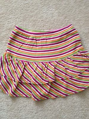 GYMBOREE~ALL ABOUT BUTTONS TIERED STRIPED RUFFLED SKORT~sz.7