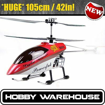 BIG RC Heli 42inch GYRO Metal frame 3.5CHANNEL RC HELICOPTER 105cm QS8005