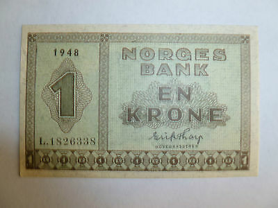 Norway Lot P-15b 1948 1 Krone AU Add Collection