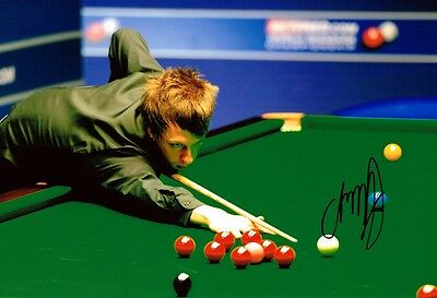 Judd Trump SIGNED Autograph Snooker 12x8 Photo AFTAL COA Obtained in Person 2012