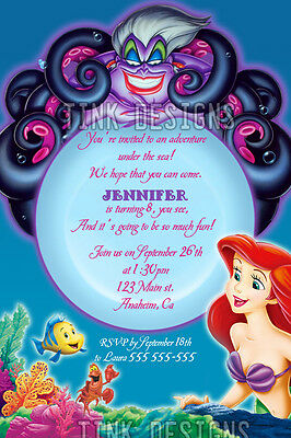 Invitations Little Mermaid Ariel Birthday party favors