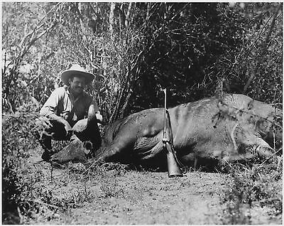 Ernest Hemingway On A Safari In Africa  8X10 Photo