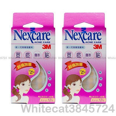 (2Pk) 3M Nexcare Acne Dressing Pimple Stickers Patch Small Circle 40Pcs