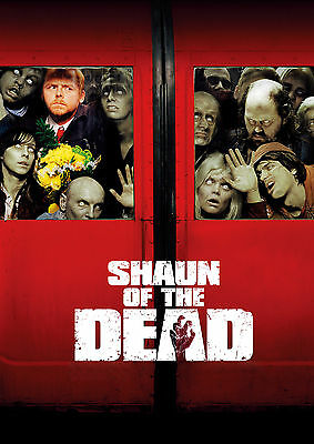 SHAUN OF THE DEAD Movie Poster Horror Zombies Comedy