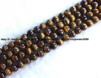4,6,8,10,12,14,16,18,20mm natural yellow Tiger's Eye round Beads 15''