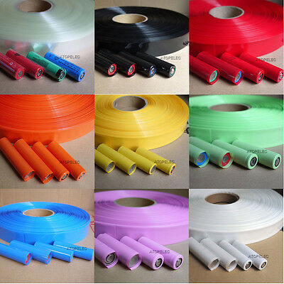(18650 18500 Battery) 29.5MM Wide Φ18.5MM PVC Heat Shrink Tubing Tube Wrap