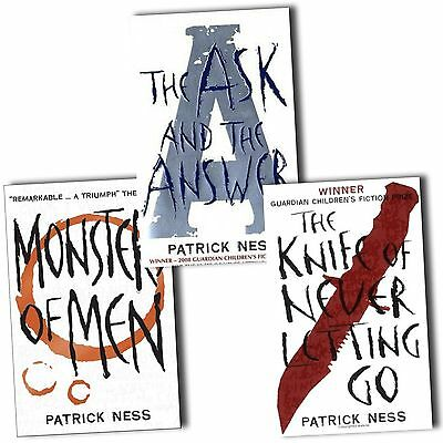 Chaos Walking trilogy Series Collection Patrick Ness 3 Books Set Monsters of Men