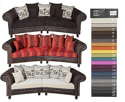 big sofa carlos lederlook dunkel braun dunkel rot. Black Bedroom Furniture Sets. Home Design Ideas
