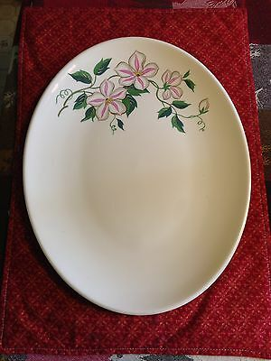 Knowles Pattern KNO535 Pink & White Flowers Green Vines Serving Platter