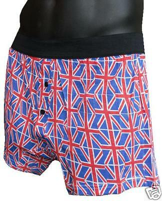 ★MENS BOXERS SHORTS UK BRITISH FLAG UNION JACK 60 YEARS QUEENS DIAMOND JUBILEE ★