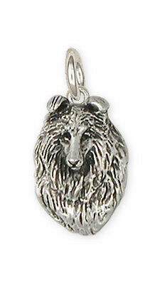 Collie Charm Jewelry Sterling Silver  - COL6-C
