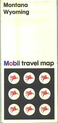 1968 Mobil Montana/Wyoming Vintage Road Map