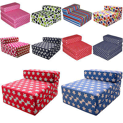 Gilda® Fold Out Single Futon Guest Z Bed Chair - Kids Prints Sleep Over Chairbed