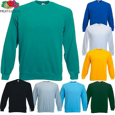 Fruit of the Loom Childrens Kids Sweatshirt New Sweat Jumper Age 3-4 up to 12-13