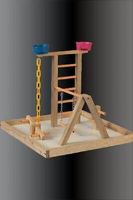 Parrot Perch Pet Bird Play Gym Stand Table Top Perch