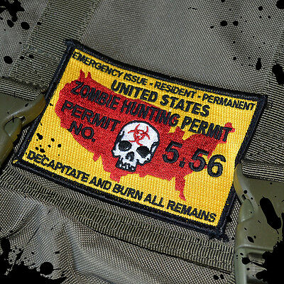 Tactical Zombie Undead Killer Hunting Permit Morale Patch