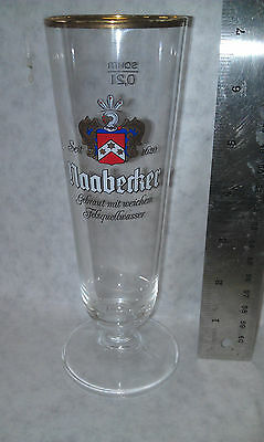 Naabecker beer Fluted Glass Collectible Vintage