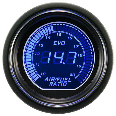 52mm Digital EVO Gauge Air Fuel Ratio Meter Red Blue LED Smoke
