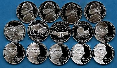 2000  through 2011 S Proof Nickels - Set of 14