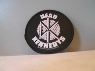 NEW BLACK DK ROUND DEAD KENNEDYS 70s JELLO PUNK ROCKER LOGO EMBROiDERED PATCH