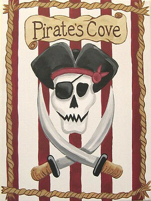 Pirate Edible Icing Party Cake Topper Decoration Image Custom