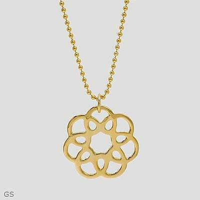 Terrific Brand New Necklace Crafted in 14K/925 Gold plated Silver