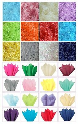 ACID FREE TISSUE PAPER SHEETS or RECYCLABLE HAMPER FILLER SHREDDED ~ PICK AMOUNT